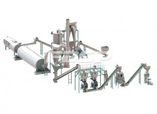 時産4-6 t農作物廃棄物の粒生産ラ