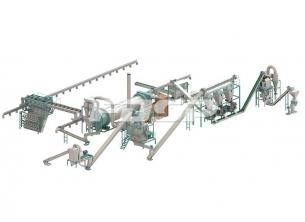 時産6-7トンの有機肥料の粒生産ラ