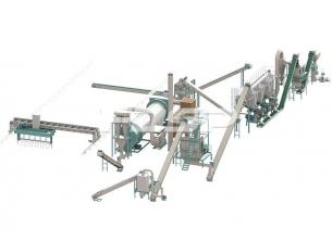 時産10-12トンの牛糞有機肥料の粒