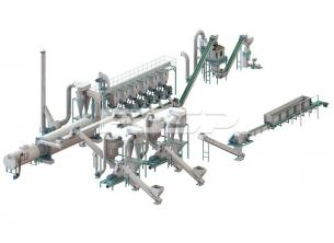 時産5-7トンの原木の粒の生産ライ