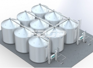9-600 Tトウモロコシ鋼板倉庫工事